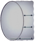 Abagno Grooved Rectangular Mirror With Shelf & Skirting AD-058